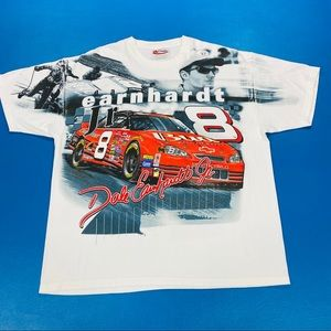 Vintage NASCAR All Over Print Shirt